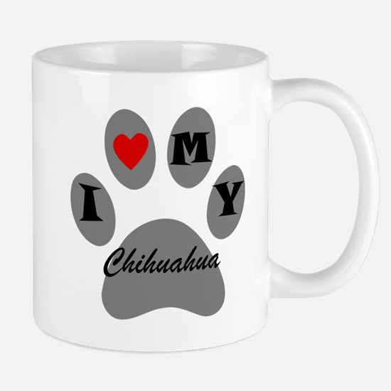 I Heart My Chihuahua Mugs