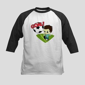 Soccer Boy Kids Baseball Jersey