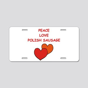 POLISH Aluminum License Plate