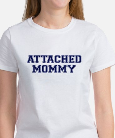 Attached Mommy Collegiate Women's T-Shirt