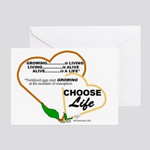 Abortion36 NOT AN O... Greeting Card
