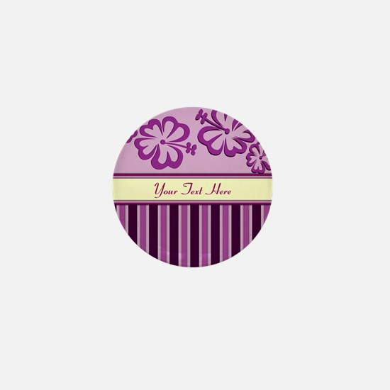 Purple And Pink Stripe Hibiscus Personalized Mini