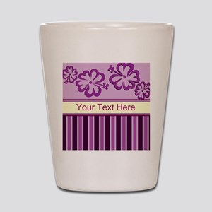 Purple And Pink Stripe Hibiscus Personalized Shot
