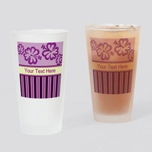 Purple And Pink Stripe Hibiscus Personalized Drink