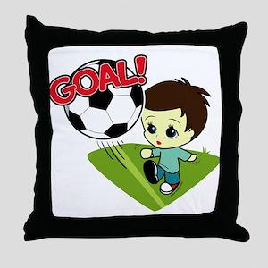 Soccer Boy Throw Pillow