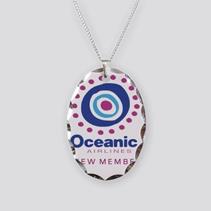 3-Oceanic airline crew Necklace Oval Charm