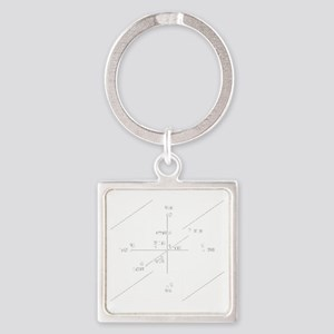 cube_sepherotBlack Square Keychain