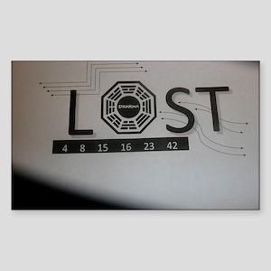 LOSTTV_LOSTDHRMA Sticker (Rectangle)
