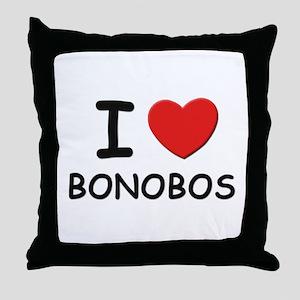 I love bonobos Throw Pillow
