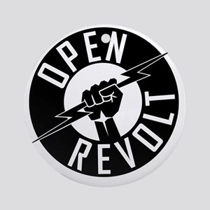 OpenReVoltLogo_black_on_clear Round Ornament