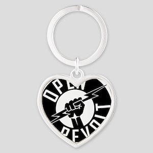 OpenReVoltLogo_black_on_clear Heart Keychain
