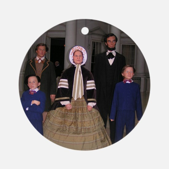 Lincoln Family Round Ornament