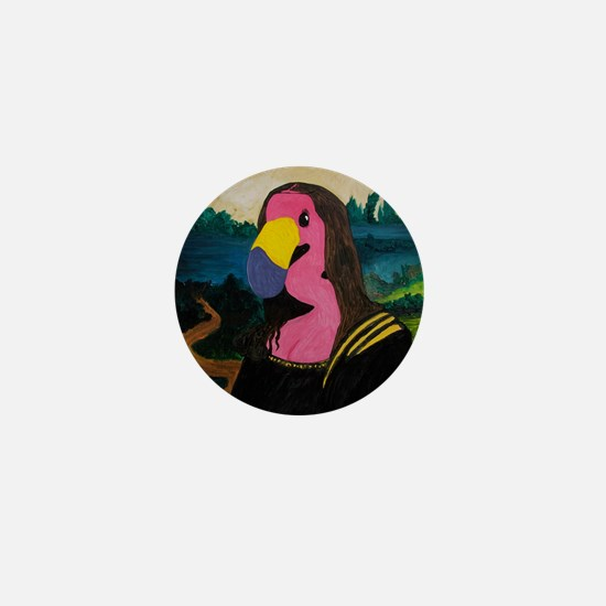 Mona Flamingo Mini Button