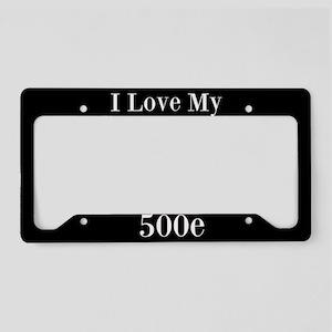 I Love My 500E License Plate Holder