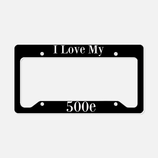 I Love My 500E License Plate Holder