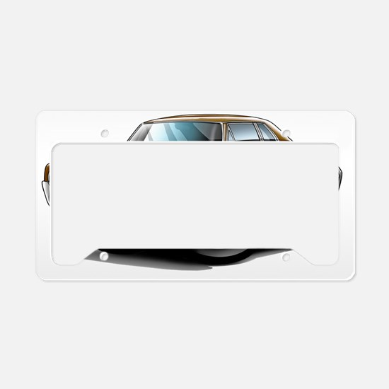 1966 Olds Cutlass Brown Car License Plate Holder