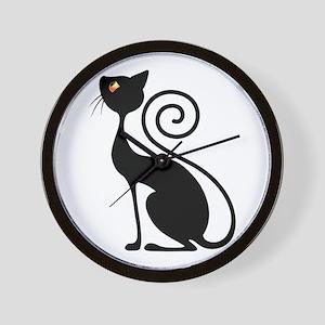 Black Cat Vintage Style Design Wall Clock