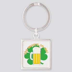 shamrock and beer cp Square Keychain