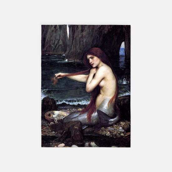 A Mermaid 5'x7'Area Rug