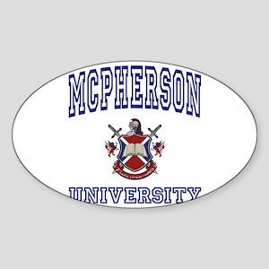MCPHERSON University Oval Sticker