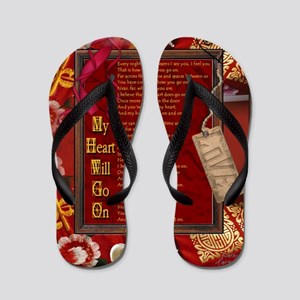 My Heart Will Go On Flip Flops