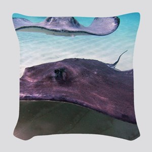 Here They Come for CP Woven Throw Pillow