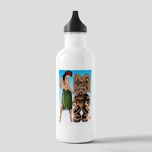 tiki  wahine-Lg-blue-0 Stainless Water Bottle 1.0L