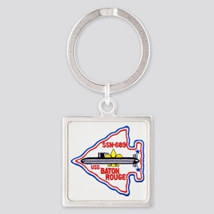 brouge patch Square Keychain