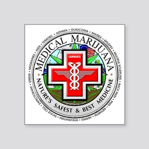 "medmlogobig36w Square Sticker 3"" x 3"""