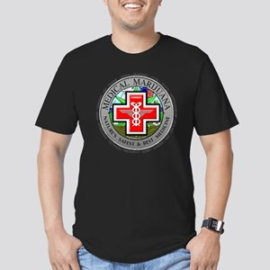 medmlogobig36w Men's Fitted T-Shirt (dark)