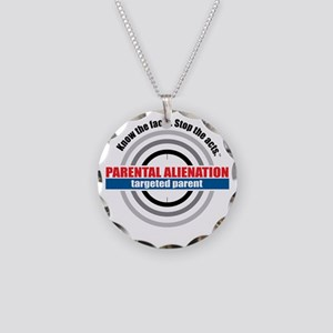 PA-target Necklace Circle Charm