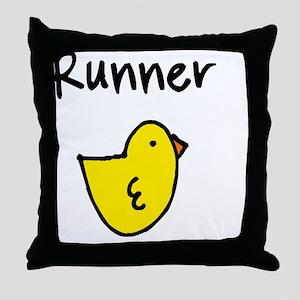 Runnerchick Throw Pillow