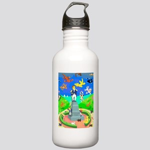 Raining Cats  Dogs in  Stainless Water Bottle 1.0L