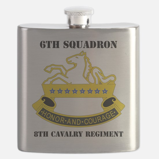 6-8 CAV REG  WITH TEXT Flask