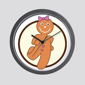 ginger-brown Wall Clock