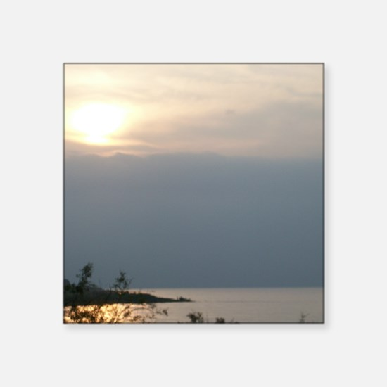 "Sea of Galilee At Daybreak  Square Sticker 3"" x 3"""
