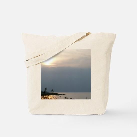 Sea of Galilee At Daybreak Crop Tote Bag