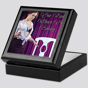 Cafe design mouse pad correct copy Keepsake Box