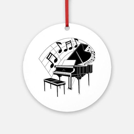 PianoNotes10x10 Round Ornament