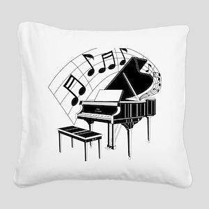 PianoNotes10x10 Square Canvas Pillow