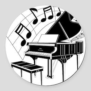 PianoNotes10x10 Round Car Magnet