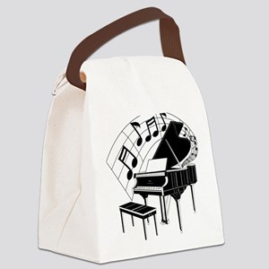 PianoNotes10x10 Canvas Lunch Bag