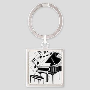 PianoNotes10x10 Square Keychain