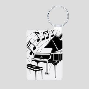 PianoNotes10x10 Aluminum Photo Keychain