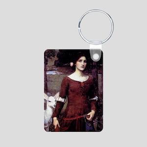 The Lady Clare Aluminum Photo Keychain