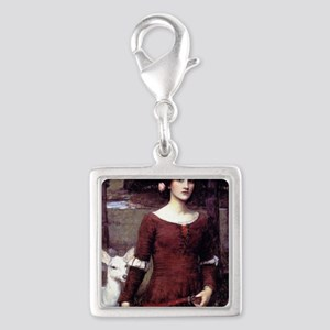 The Lady Clare Silver Square Charm
