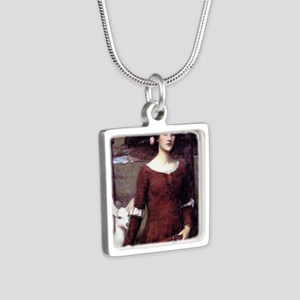 The Lady Clare Silver Square Necklace