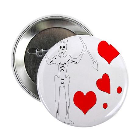 "Blackbeard-Hearts 2.25"" Button"