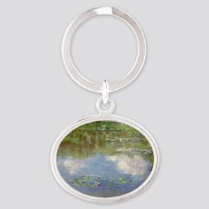 Water Lilies (The Clouds) Oval Keychain