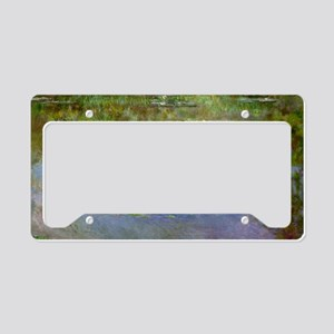 Water Lilies (The Clouds) License Plate Holder